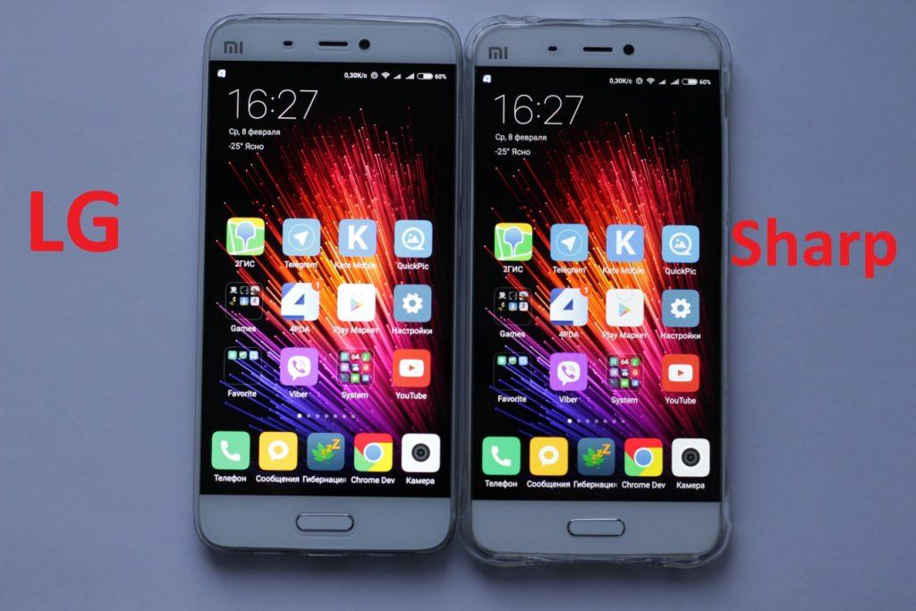 Сравнение двух экранов Xiaomi mi5
