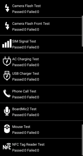 Тестовое меню Asus
