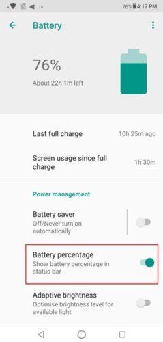 Процент батареи Asus