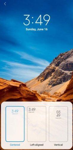 Формат часов на экране блокировки Xiaomi